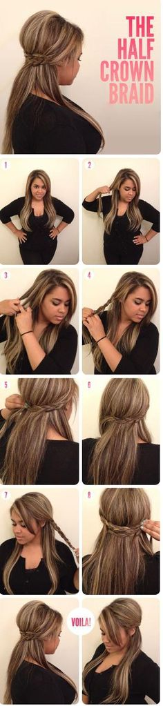 THE HALF CROWN BRAID-Top 15 Easy-To-Make Braids Tutorials | bridesmaids hair by regina
