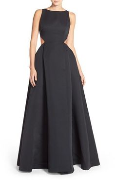 Halston Heritage Cutout Sides Faille Ballgown available at Structured Gown, Halston Heritage, Best Brand, Ball Gowns, Fashion Dresses, Nordstrom, Formal Dresses, Womens Fashion, Clothes