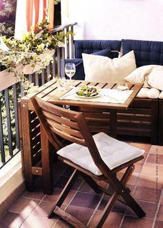 55 Super cool and breezy small balcony design ideas - Balkonien - Balcony Furniture Design Apartment Balcony Decorating, Apartment Balconies, Apartment Living, Cozy Apartment, Living Room, Apartment Design, Apartments, Apartment Balcony Garden, Small Balcony Design