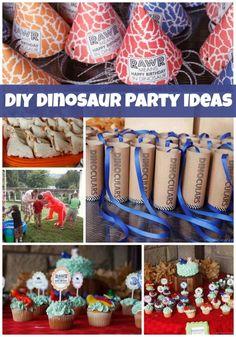DIY Dinosaur Birthday Party Ideas www.spaceshipsandlaserbeams.com