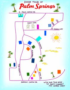 Palm Springs Door Tour Map // Salty Canary