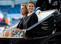 """On August 21, 2017, Princess Madeleine of Sweden attended opening ceremony of """"Longines FEI European Show Jumping Championships"""" at the Ullevi Stadium in Gothenburg, Sweden. (King Carl Gustaf and Queen Silvia are going to attend at the final of the Championships on Sunday.)"""