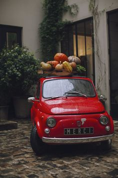 candy apple red... I will have this vintage mini cooper as my car someday! So cute