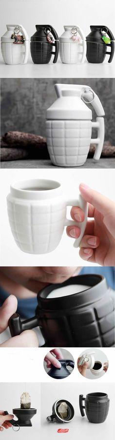 Grenade Shaped Ceramic Mug
