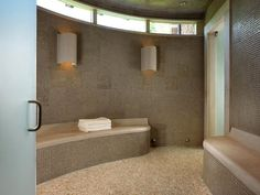 sauna 610x460 A combination of luxury and artistic decor   Pool House & Wine Cellar
