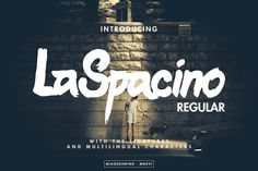 LaSpacino Typeface is handmade brush and marker handlettering. Combining strong, rough, bold,and brushy typography with many features inside. Suitable for