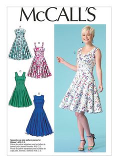 M7117 Misses' Fit and Flare Dresses