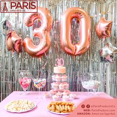 30th Birthday Balloons, 30th Birthday Cake Topper, 30th Birthday Decorations, Happy 30th Birthday, Birthday Weekend, Birthday Fun, Birthday Candles, Birthday Parties, Birthday Goals