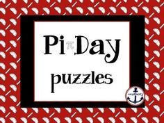 This is a once-in-a-hundred-years kind of Pi Day. The month/day/year are 3.14.15, the first five digits of Pi. But Pi Day is on a Saturday this year... so plan to celebrate Pi Week with your students!This resource includes 5 different puzzles, one for each day of the week leading up to Pi Day:Its All About the Number- Pi SudokuPi Word SearchLogic with Pi (2 versions; one easy and one challenging)Solve the Circles to Find the Quote (by Einstein)Mystery Picture - Cartesian Graph (with 100…