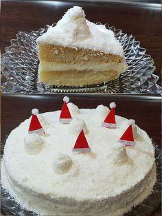 Γιορτινή Χιονούλα !!! ~ ΜΑΓΕΙΡΙΚΗ ΚΑΙ ΣΥΝΤΑΓΕΣ 2 Greek Sweets, Xmas Food, Greek Recipes, No Bake Cake, Vanilla Cake, Desserts, Blog, Christmas, Baking Cakes