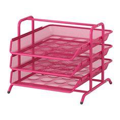 IKEA - DOKUMENT, Briefablage, rosa, , Ausziehbare Fächer erleichtern den Zugang zu Papieren.