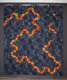 flying geese quilts | Quilt top and photo by Catherine Mosely