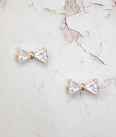 helen & sienna - Agnella earrings- The sweetest Swarovski crystals bow earrings handmade from 24 k gold plated and can be perfect as a gift for your lovely bridesmaids