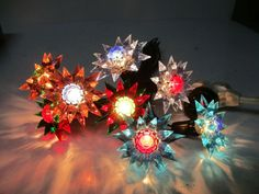 8 C-6 ILLUMIBRITE MATCHLESS STAR Christmas Lights - Assorted Colors #20