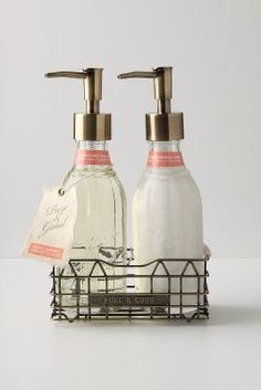 Pure + Good Soap and Lotion dispensers