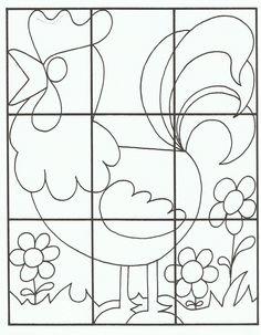 * Kleuren, als puzzel gebruiken plastificeren! Je kunt hem in moeilijkheid aanpassen. Natuurlijk ook als kleurplaat knippen en laten opplakken!