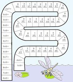 Math snake is a fun way for the students to practice basic math operations. Kids Math Worksheets, Maths Puzzles, Math Activities, Math Patterns, Math School, Math Multiplication, Math Help, Basic Math, Homeschool Math