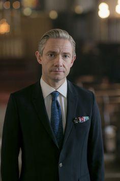 SHERLOCK (BBC) ~ Martin Freeman S4 promo photo.