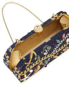 Charmed Long Crystal Clutch Bag