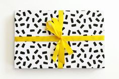 Black and White Confetti Wrapping Paper Confetti Wrapping Paper Black and White Designed by When it Rains Paper Co. The post Black and White Confetti Wrapping Paper appeared first on Paper Diy. Wrapping Paper Rolls, White Wrapping Paper, Wrapping Paper Design, Wrapping Ideas, Birthday Gift Wrapping, Wedding Gift Wrapping, Christmas Gift Wrapping, Birthday Gifts, Diy Paper