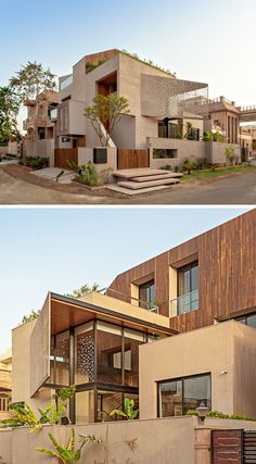 Abraham John Architects has designed the Chhavi House, a residential villa that's located on a corner lot in Jodhpur, India. #ModernArchitecture #ModernHouse