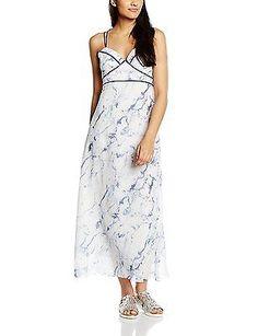 UK 14, Blue - Bleu (Blue), Molly Bracken Women's P218e16 Sleeveless Dress NEW