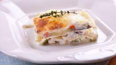 Lasaña de verduras asadas a los 3 quesos - Receta - Canal Cocina
