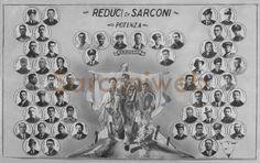 Riproduzione di un manifesto con ritratti dei caduti e reduci di Sarconi nella Guerra Mondiale.