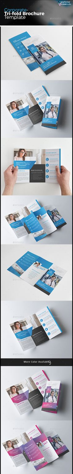 TriFold Brouchure  Tri Fold Ai Illustrator And Brochures