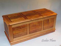 DIY - DIGITAL PLANS - Woodworking Plans - Blanket Chest- SCOBIE PLANS