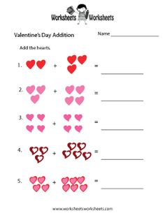 about Valentine's Day Worksheets and More! on Pinterest | Worksheets ...