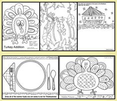 FREE THANKSGIVING ACTIVITY BOOK~  Great pictures to color, fun hidden pictures activity, maze, and word search.  This quick download will keep your kids or students creatively engaged!