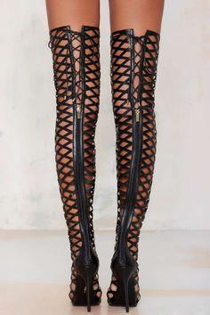 Fixx Caged Knee-High Heel - Best Sellers | Pumps | Heels