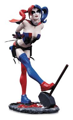 DC Collectibles DC Comics Cover Girls: Harley Quinn Statue (Second Edition) Sculpted By Jack Mathews Second Edition of the bestselling statue Bold, new look for the character