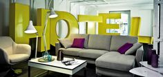 No se donde! 3d Letters, Environmental Design, Contemporary Interior, Signage, Couch, Projects, Furniture, Joy, Social Media