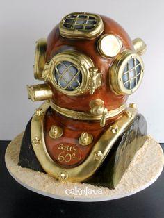 cakelava: Diver's Helmet Cake. cake by Rick Reichart. www.cakelava.com