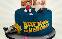 Back to the Future 19 Spectacularly Nerdy Wedding Cakes Creative Wedding Cakes, Wedding Cake Designs, Wedding Cake Toppers, Back To The Future Party, Different Wedding Cakes, Cherry Cake, Crazy Cakes, Fancy Cakes, Cake Decorating Supplies