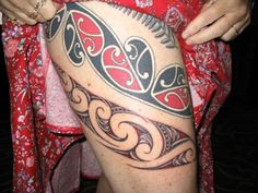 Maori Tattoo on Leg