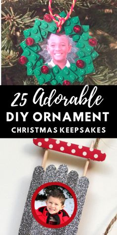 DIY Photo Ornament Christmas Crafts