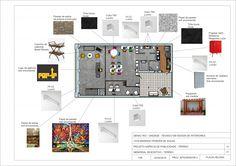 Arquiamor 5 - Ideias em Casa Project Presentation, Presentation Boards, Presentation Layout, Interior Design Boards, Apartment Projects, Concept Board, Copics, Receptions, Art Decor