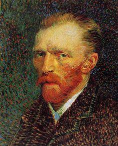 Self Portrait, 1887. Oil on cardboard  by Vincent Van Gogh