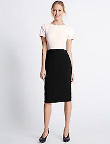 Short Sleeve Lined Shift Dress