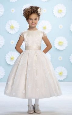 Cute Joan Calabrese for Mon Cheri Flower Girl Dresses