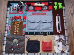 Farmall Fidget Quilt  Busy Hands  Fidget Quilt by EndearingDignite