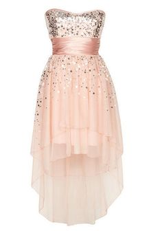 BLUSH SEQUIN HI-LO DRESS!  I'm totally gonna get this for the spring dance!!!!