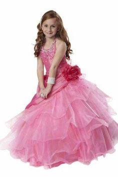 65691c49a eBay #Sponsored Tiffany Princess Little Girls' Beaded Ruffled Pageant/Flower  Gown Dress 4