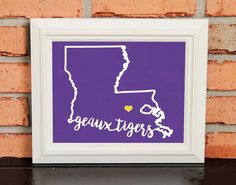 GEAUX TIGERS! College Pride Wall Art - Artwork - LSU Tigers - Louisiana State University - Purple and Gold - Man Cave Artwork - College Decor - UNFRAMED Poster Print - Chalkboard Finish. Looking for a fun piece of art for your dorm room, office or man cave? This is it! - GEAUX TIGERS! College Pride Wall Art - LSU Artwork - LSU Tigers - Geaux Tigers - Louisiana State University - Purple and Gold - Man Cave Artwork - College Decor - UNFRAMED Poster Print - Chalkboard Finish.