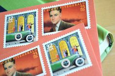 Great Gatsby Gift Stationery Postage Stamped by EdelweissPost, $25.00