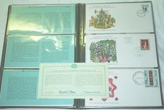 Intl Postmasters 1977 Christmas FDC Collection Limited edition catcheted set of twelve as selected by The International Society of Postmasters. International Society, The Selection, Christmas, Collection, Navidad, Xmas, Weihnachten, Noel, Natal