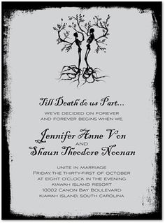 Newest Free of Charge Skeleton Wedding Grey Halloween Invitations by Noteworthy Collections - Invitation Box Thoughts Wedding Invitation Cards-Our Recommendations When the date of your wedding is fixed and the Area is Diy Halloween Wedding Invitations, Gothic Wedding Invitations, Halloween Weddings, Halloween Themes, Halloween Diy, Halloween Decorations, Halloween Masquerade, Gothic Halloween, Halloween 2020